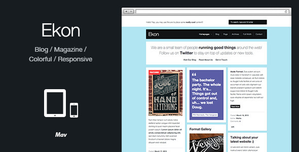 ThemeForest Ekon Responsive Blog Magazine WordPress Theme 5085847