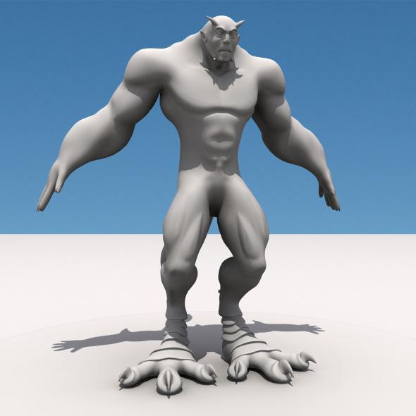 3DOcean Monster Man 5085964