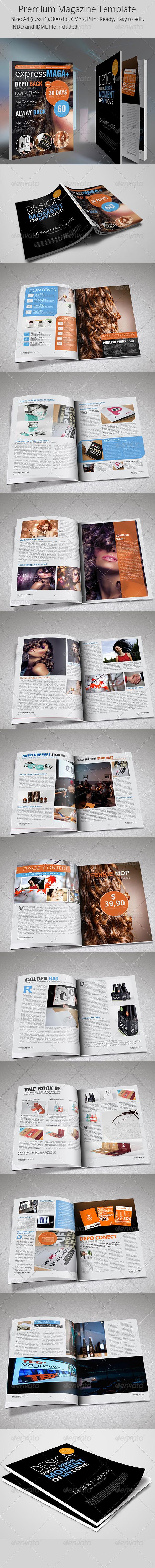 Magazine ExpressMaga Template - Magazines Print Templates