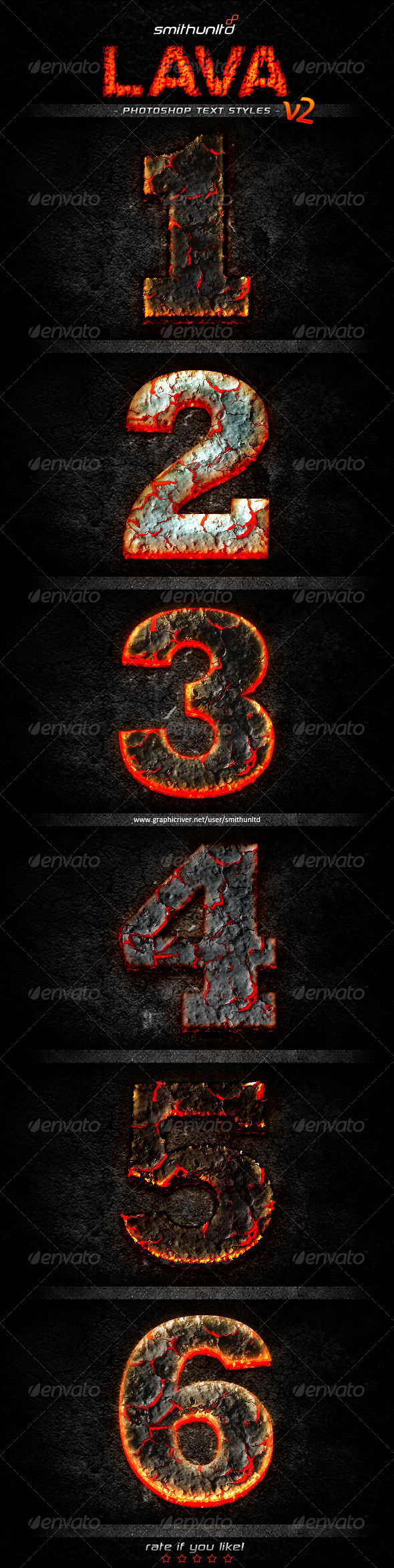 Lava Text Styles v2 - Text Effects Styles