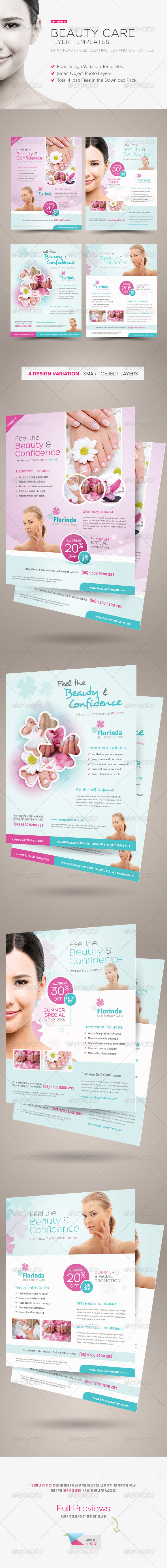 GraphicRiver Beauty Care Flyer Templates 5086599