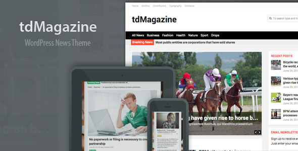 ThemeForest tdMagazine WordPress News Theme 5087049