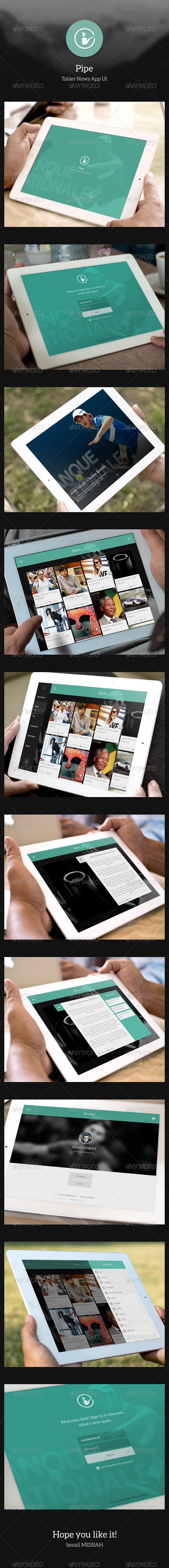 GraphicRiver Tablet News App UI Pipe 5087267