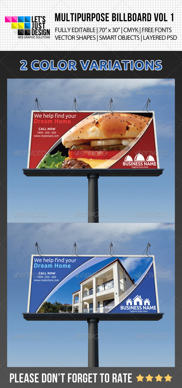 GraphicRiver Multipurpose Billboard Vol 1 5087542