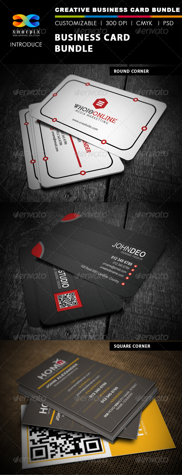 GraphicRiver Business Card Bundle 3 in 1-Vol 7 5087720