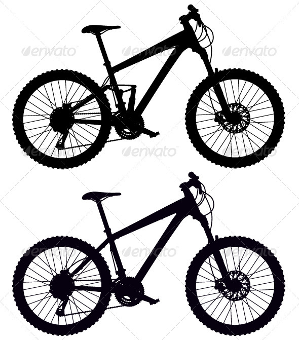 GraphicRiver Silhouettes of Bicycles 5087880