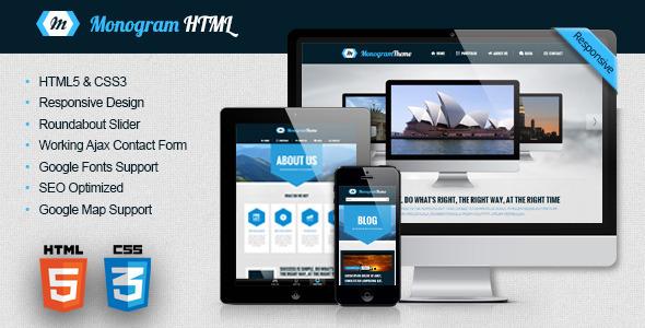 Monogram - Responsive HTML5 Template (Corporate)