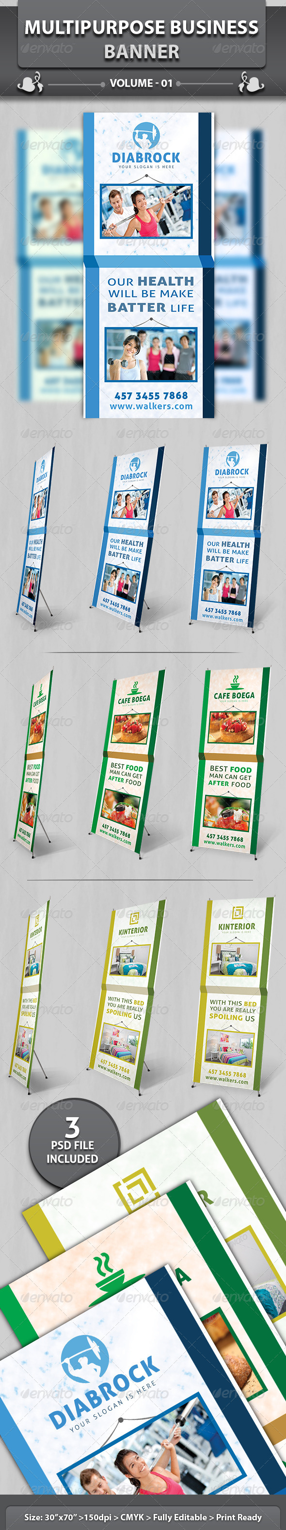 Multipurpose Business Banner | Volume 1 - Signage Print Templates