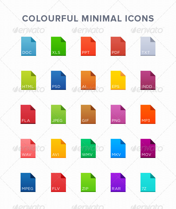 25 Minimal File Icons - Icons