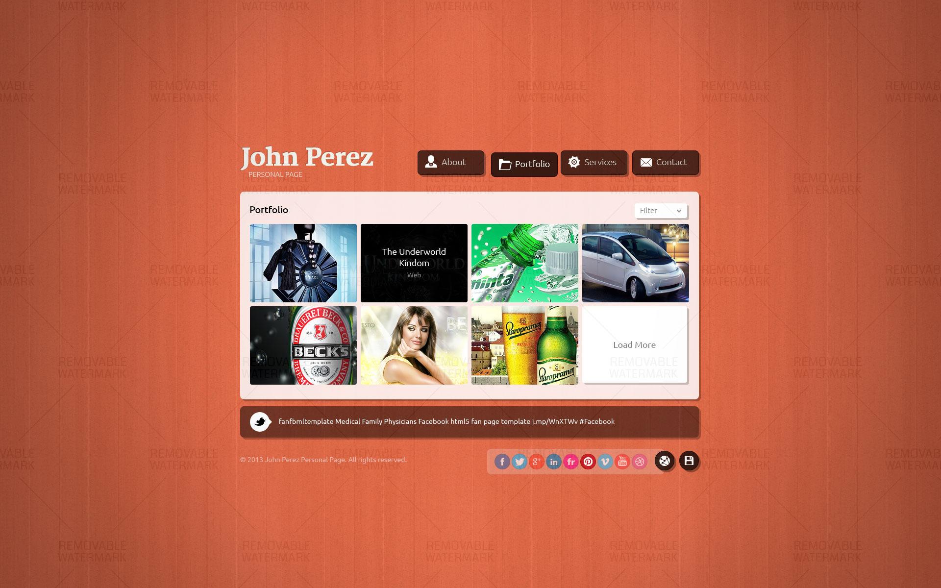J.P. - Responsive JavaScript Animated HTML5 vCard