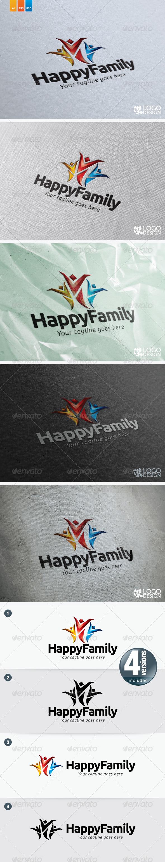 Happy Family - Humans Logo Templates