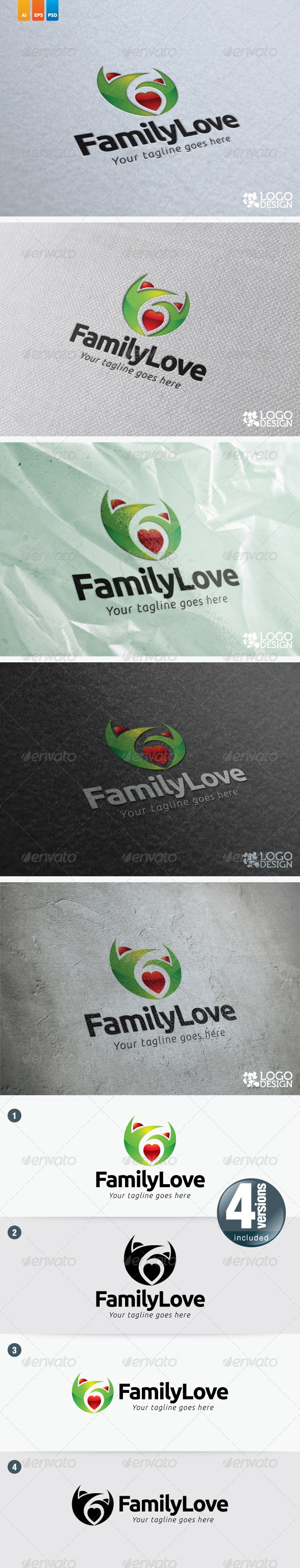 Family Love - Humans Logo Templates