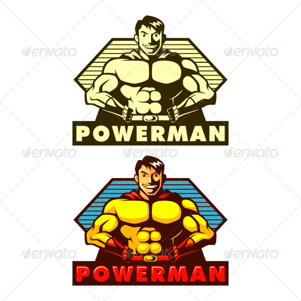 GraphicRiver Powerman Mascot 5088922