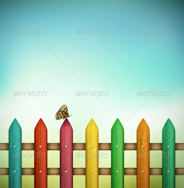 GraphicRiver Colorful Fence 5089018