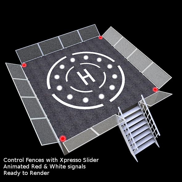 Helipad 3D 1 - 3DOcean Item for Sale