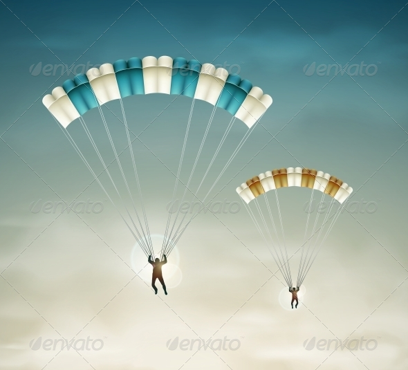 GraphicRiver Two Parachutists 5089031