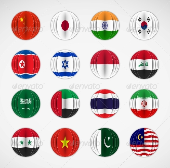 GraphicRiver Set of Flags 5089051
