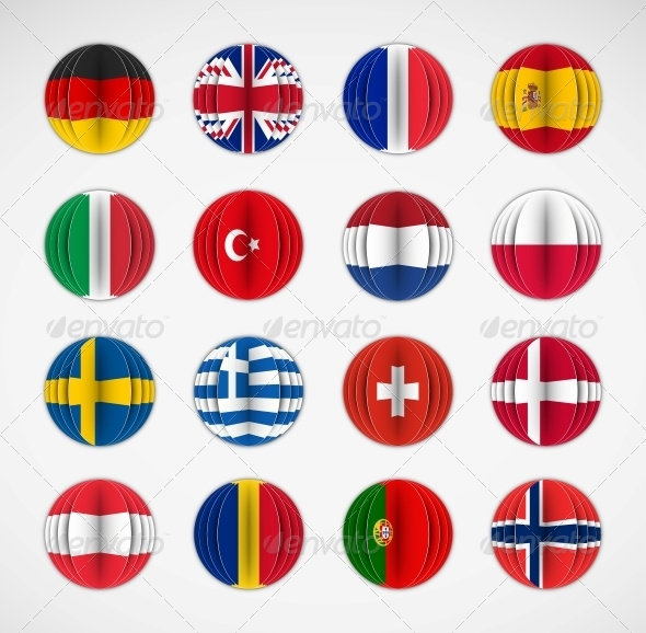 GraphicRiver Set of Flags 5089052