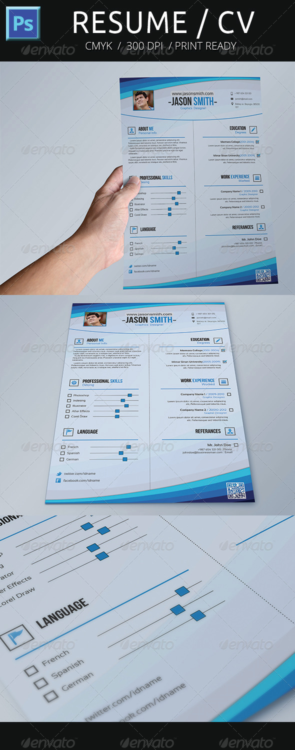 GraphicRiver Resume CV 5089077