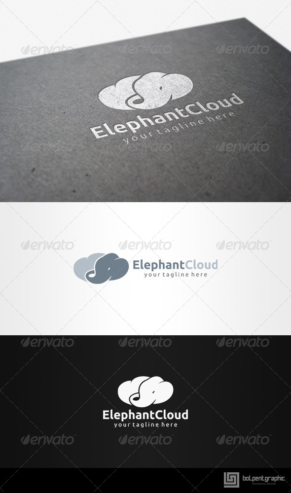 Elephant Cloud - Symbols Logo Templates
