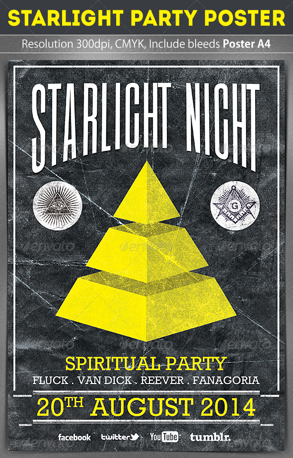 Starlight Poster Template - Clubs & Parties Events