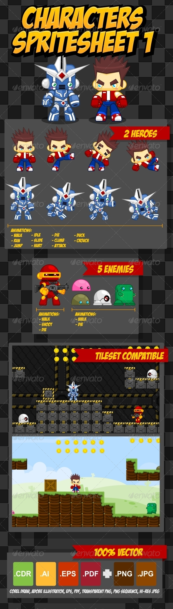 GraphicRiver Characters Spritesheet 5089398