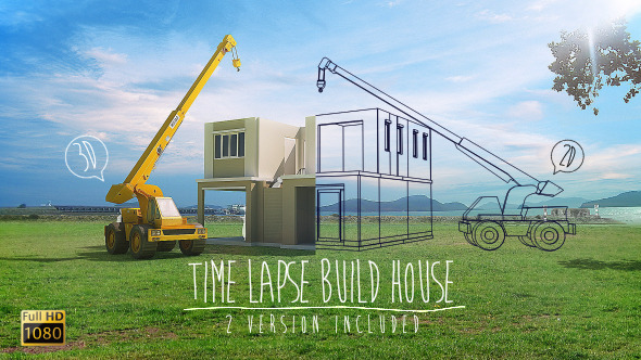 Time Lapse Build House | Stock Footage