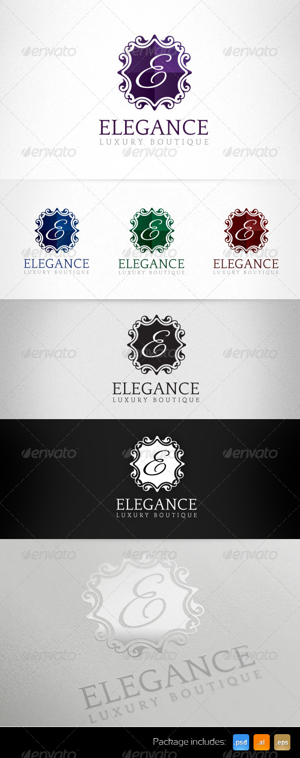 Elegance Luxury Boutique Exclusive Logo - Letters Logo Templates