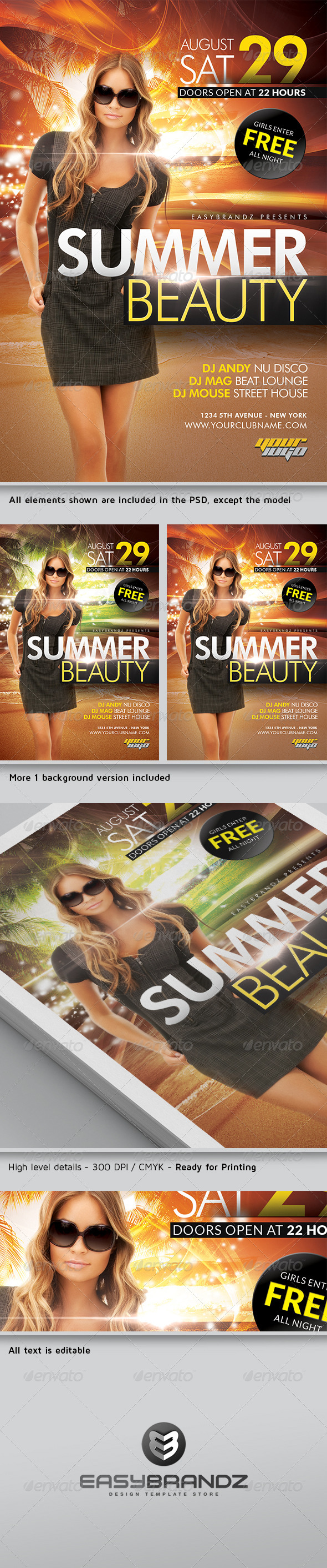 GraphicRiver Summer Beauty Flyer Template 4784832
