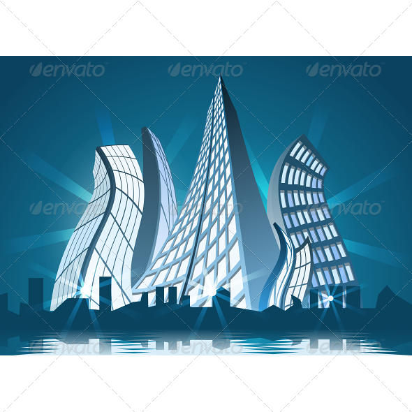 GraphicRiver Abstract City by Night 5091751