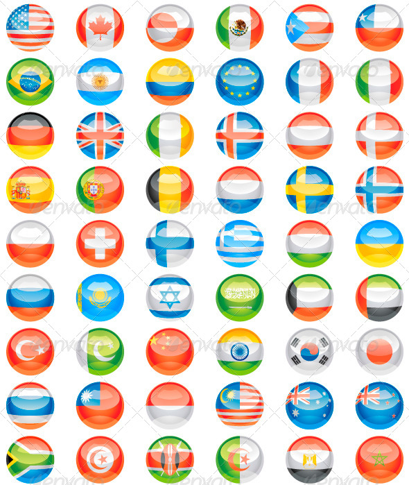 GraphicRiver Flags Buttons 5091799