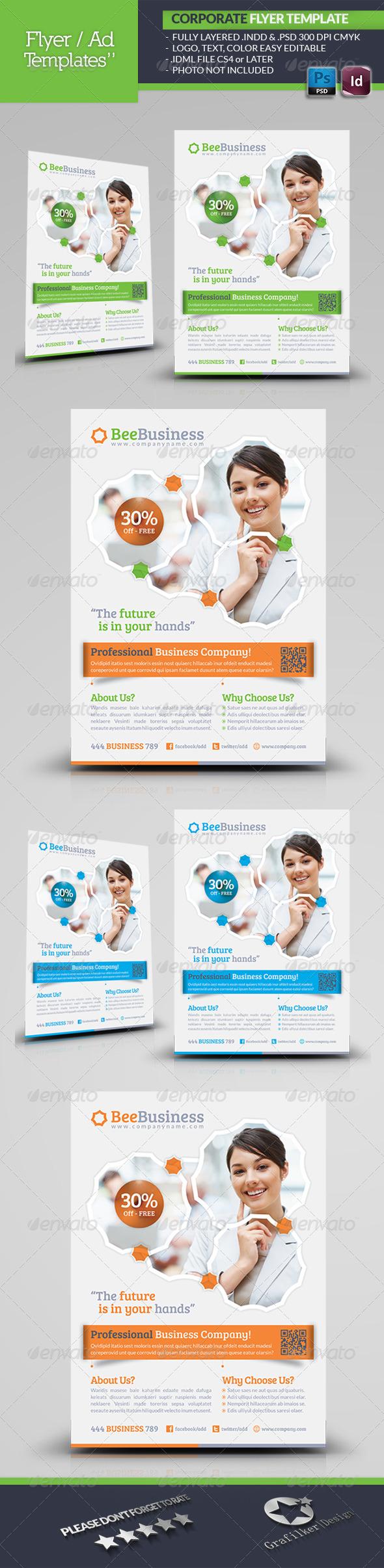 GraphicRiver Corporate Flyer Template 5091850