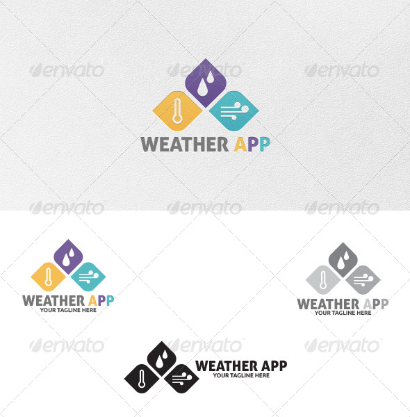 GraphicRiver Weather App Logo Template 5091898