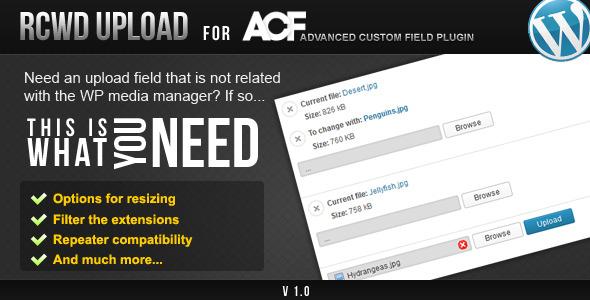 CodeCanyon Rcwd Upload for Advanced Custom Fields 5078456