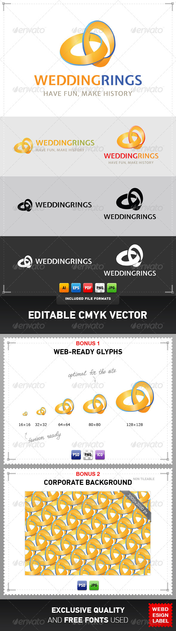GraphicRiver Wedding Rings Logo 4079425