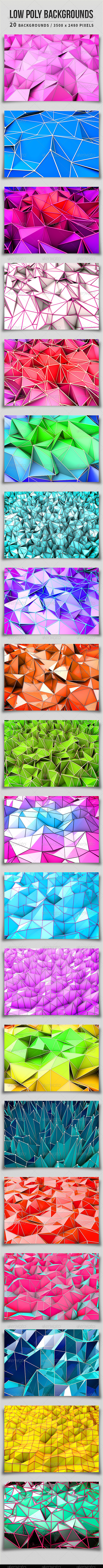 GraphicRiver Low Poly Backgrounds 5092154