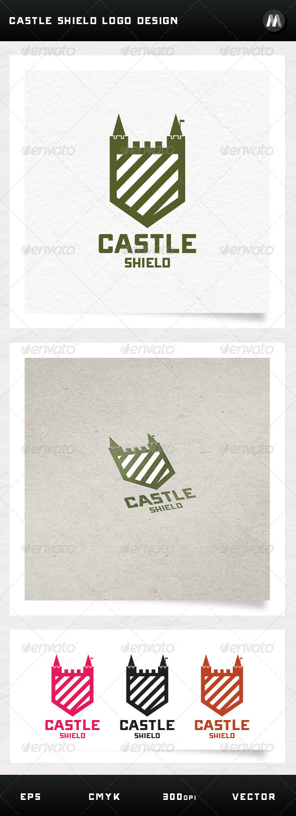 GraphicRiver Castle Shield Logo Design 5092189