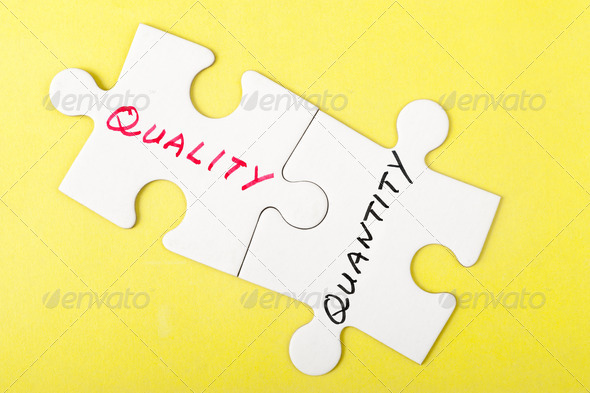 Quality or quantity - Stock Photo - Images