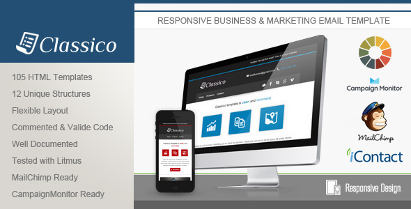 ThemeForest Classico Responsive Email Template 5092791