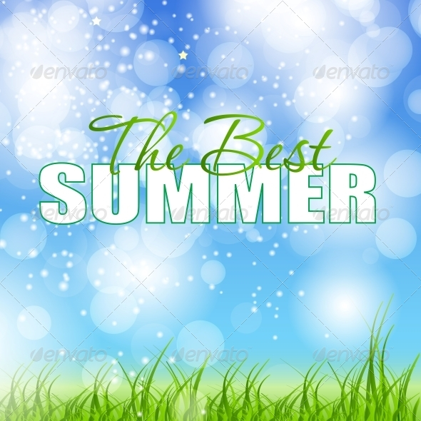 Summer Holidays Poster Vector Illustration - Landscapes Nature