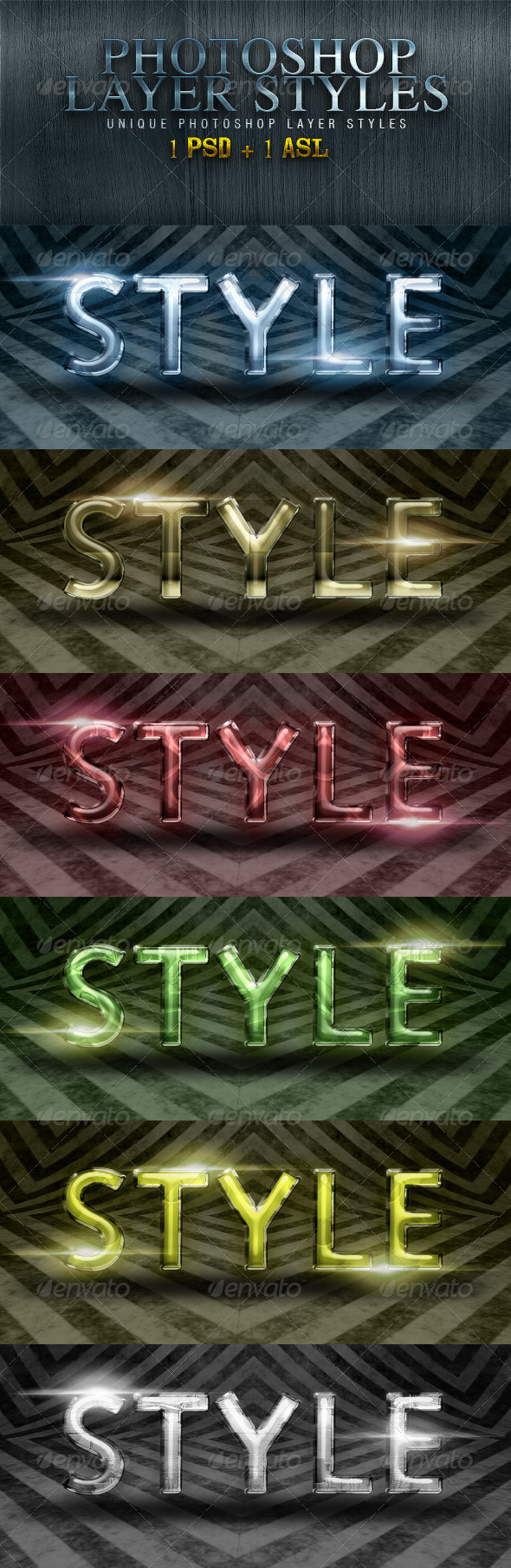 GraphicRiver Shiney Photoshop Styles 5092936