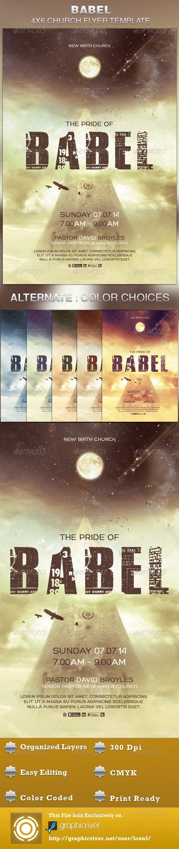 GraphicRiver Babel Church Flyer Template 5092951