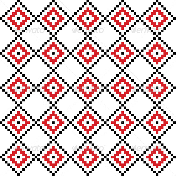 GraphicRiver Background Pattern with Ethnic Motif 5093184