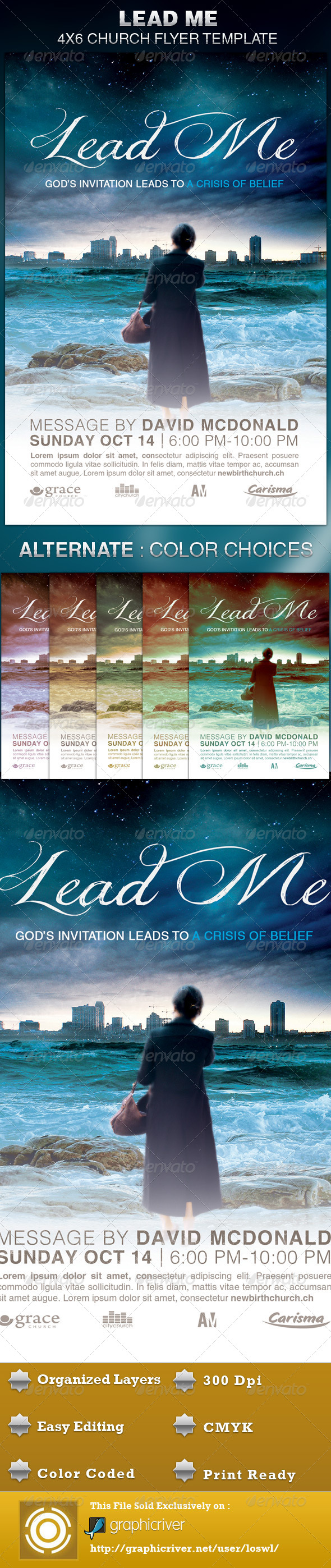 GraphicRiver Lead Me Church Flyer Template 5093223