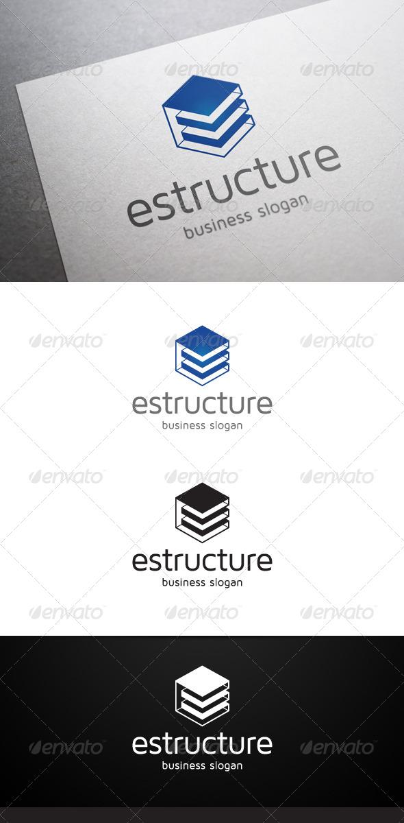 GraphicRiver Estructure E Letter Logo 5093251