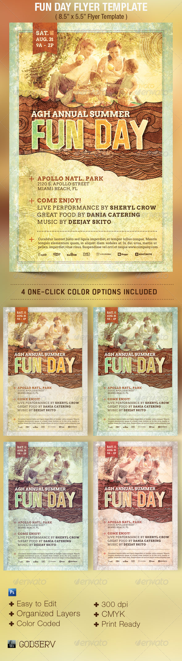 GraphicRiver Fun Day Event Flyer Template 5093274