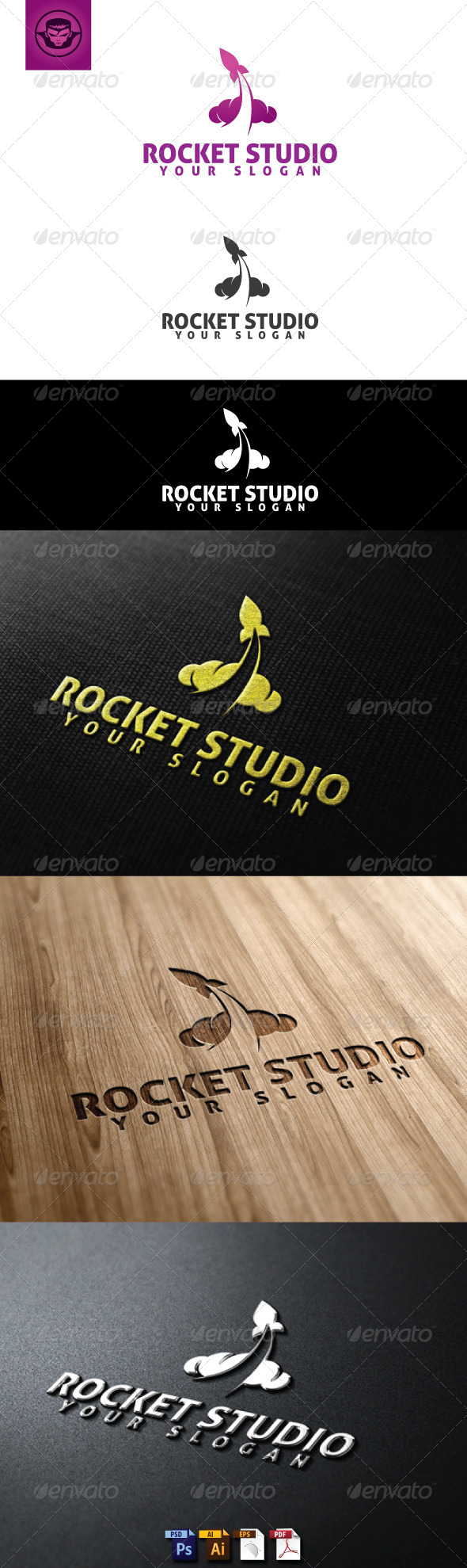 GraphicRiver Rocket Studio Logo Template 5093770