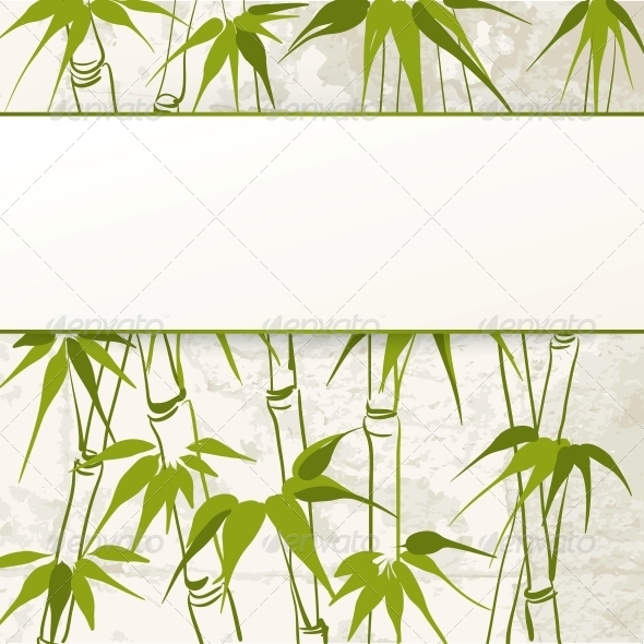 GraphicRiver Bamboo with Leaves Pattern 5094233