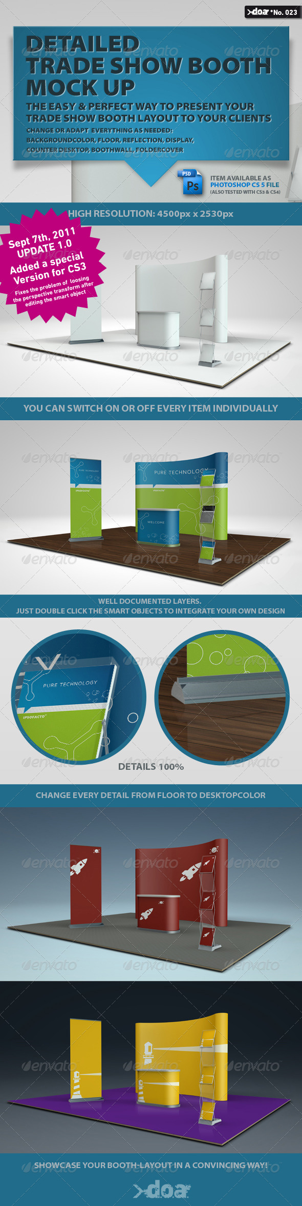 GraphicRiver Trade Show Boot Mock-up 477808
