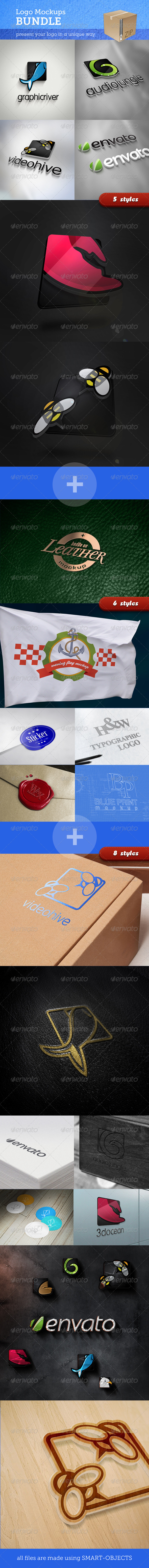 GraphicRiver Realistic Logo Mockups Bundle 5094886